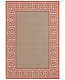 Alfresco ALF-9628 Rust 6' x 9' Area Rug, Indoor/Outdoor