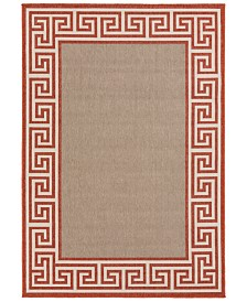 "Surya Alfresco ALF-9628 Rust 2'3"" x 4'6"" Area Rug, Indoor/Outdoor"