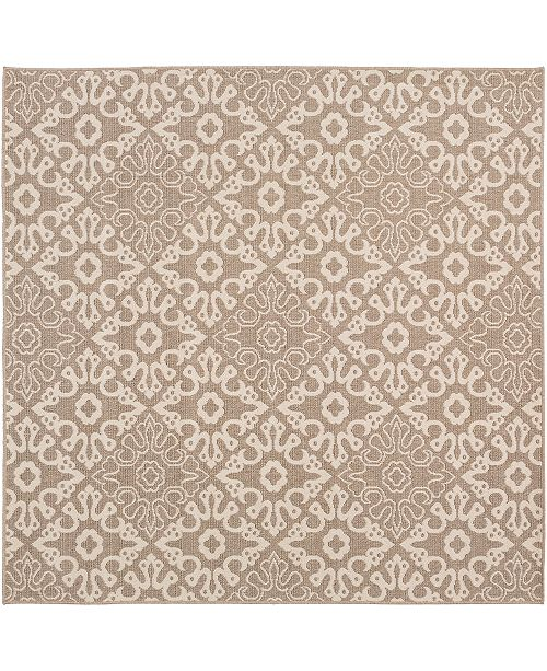 "Surya Alfresco ALF-9635 Camel 8'9"" Square Area Rug, Indoor/Outdoor"