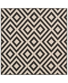"Surya Alfresco ALF-9639 Black 8'9"" Square Area Rug, Indoor/Outdoor"