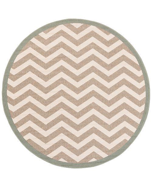 "Surya Alfresco ALF-9645 Camel 8'9"" Round Area Rug, Indoor/Outdoor"