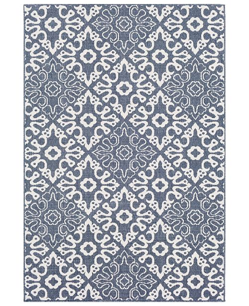"Surya Alfresco ALF-9676 Charcoal 7'6"" x 10'9"" Area Rug, Indoor/Outdoor"