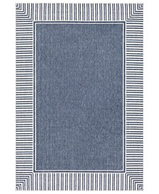 "Alfresco ALF-9682 Charcoal 7'6"" x 10'9"" Area Rug, Indoor/Outdoor"