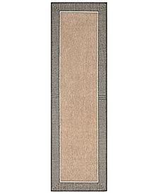 "Surya Alfresco ALF-9684 Camel 2'3"" x 11'9"" Runner Area Rug"
