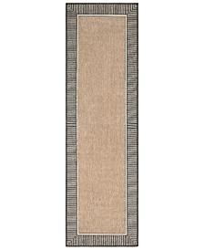 """Surya Alfresco ALF-9684 Camel 2'3"""" x 7'9"""" Runner Area Rug, Indoor/Outdoor"""