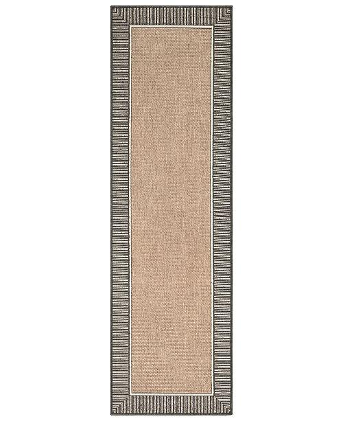 """Surya Alfresco ALF-9684 Camel 2'3"""" x 11'9"""" Runner Area Rug, Indoor/Outdoor"""