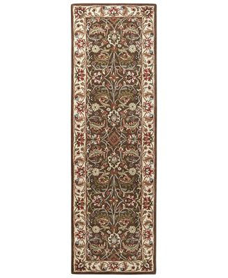 Caesar Cae 1003 Dark Brown 3 X 12 Runner Area Rug