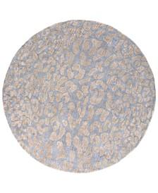 Surya Athena ATH-5001 Medium Gray 6' Round Area Rug