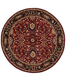 "Surya Caesar CAE-1031 Burgundy 9'9"" Round Area Rug"