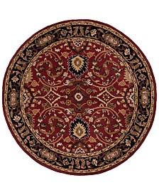 Surya Caesar CAE-1031 Burgundy 4' Round Area Rug