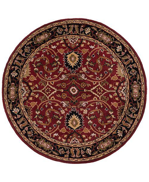 Surya Caesar CAE-1031 Burgundy 8' Round Area Rug