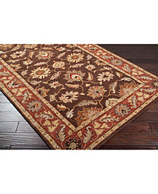 Surya Caesar CAE-1036 Dark Brown 8' Square Area Rug