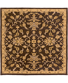 "Surya Caesar CAE-1151 Dark Brown 9'9"" Square Area Rug"