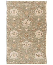 CLOSEOUT! Surya  Caesar CAE-1160 Dark Green 6' x 9' Area Rug