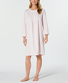 Miss Elaine Brushed-Back Satin Nightgown