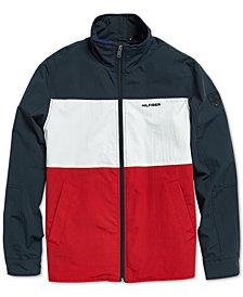 Tommy Hilfiger Adaptive Men's Flag Regatta Jacket with Magnetic Zipper