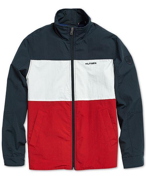 d99d6c08773 ... Tommy Hilfiger Men s Flag Regatta Jacket with Magnetic Zipper ...
