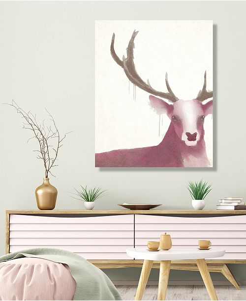"Creative Gallery Prince Of The Forest - Deer Rose 16"" X 20"" Canvas Wall Art Print"
