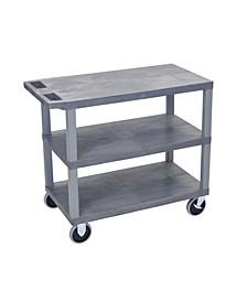 Gray EC222HD-G 18x32, Cart with 3 Flat Shelves