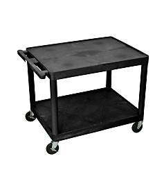 "Offex 27""H 2 Shelves Presentation Station AV Carts - Black"