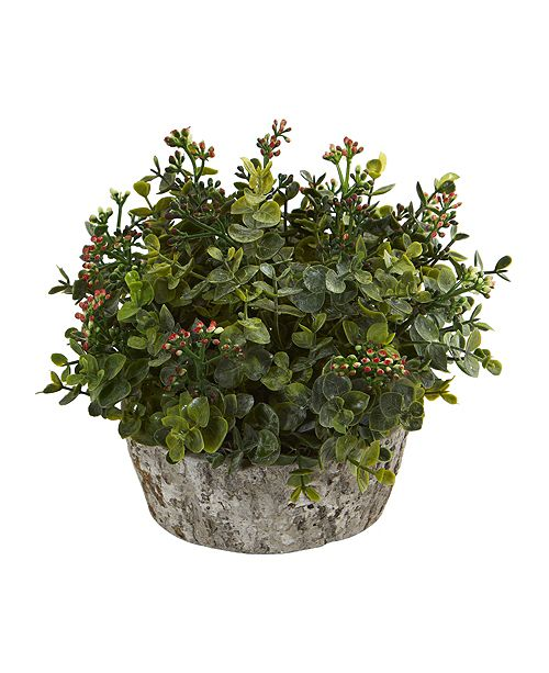 Nearly Natural Eucalyptus Artificial Plant in Oak Planter