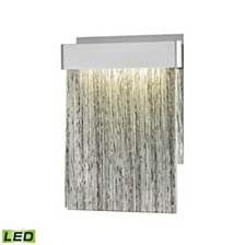 Meadowland Wall Sconce Satin Aluminum/Polished Chrome