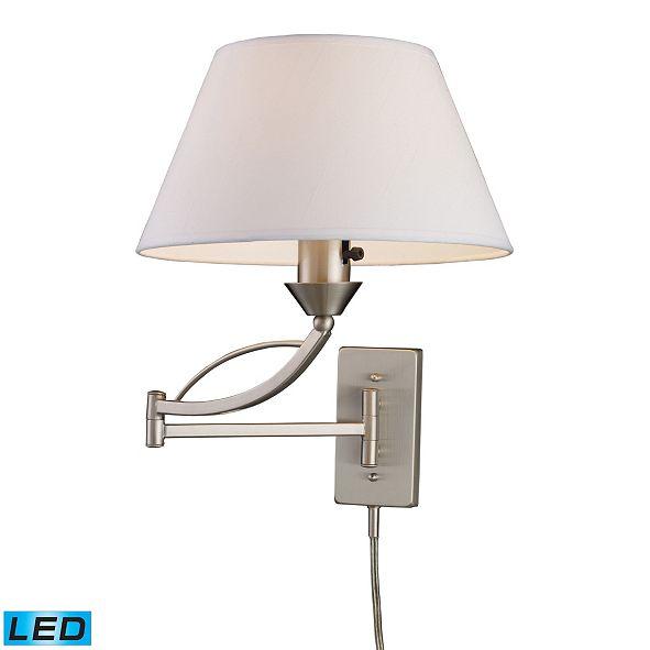 ELK Lighting D Elysburg 1-Light Swingarm Sconce in Satin Nickel