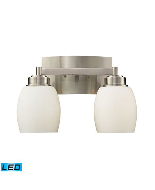ELK Lighting Northport 2-Light Vanity in Satin Nickel - LED, 800 Lumens (1600 Lumens Total) with Full Scale Dimming Range