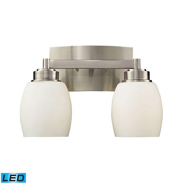 ELK Lighting Northport 2-Light Vanity in Satin Nickel - LED, 800 Lumens (1600 Lumens Total) with Full Scale Dimming Range