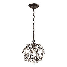 Circeo Collection 1 light mini pendant in Deep Rust
