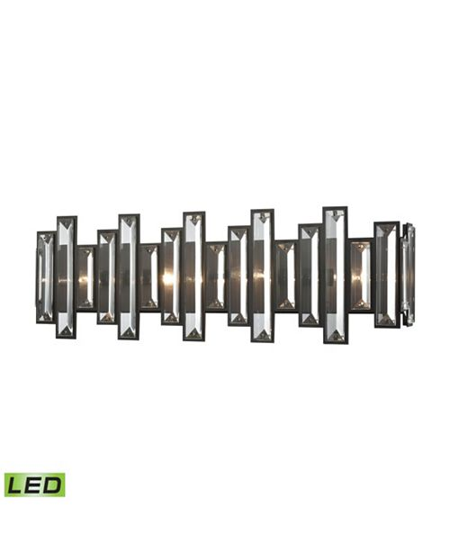 ELK Lighting Crystal Heights 4 Light Vanity in Oil Rubbed Bronze with Clear Crystal