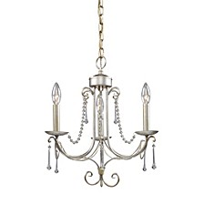 D Cambridge 3-Light Chandelier in Antique Silver