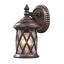 Barrington Gate 1-Light Outdoor Sconce in Hazelnut Bronze