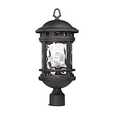 Costa Mesa 1 Light Outdoor Post Lantern in Weathered Charcoal
