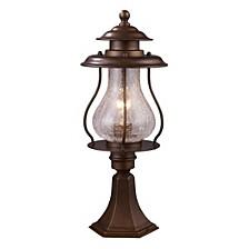 Wikshire 1-Light Outdoor Post Mount in Coffee Bronze