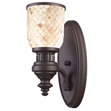Chadwick 1-Light Sconce Cappa Shell in Oiled Bronze