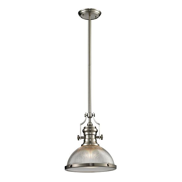 ELK Lighting Chadwick Collection 1 light pendant in Satin Nickel