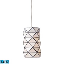 Tetra 1-Light Pendant with Chrome Hardware - LED Offering Up To 800 Lumens (60 Watt Equivalent) With