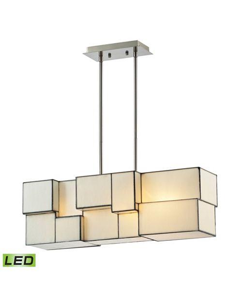 ELK Lighting Cubist Collection 4 light chandelier in Brushed Nickel - LED, 800 Lumens (3200 Lumens Total) with Fu
