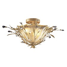 Circeo Vetro Collection 2-Light Flush Mount with A Caramel Hand Formed Glass in A Russ