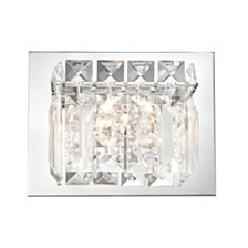 Crown Vanity - 1 Light Clear Crystal Glass/ Chrome Finish