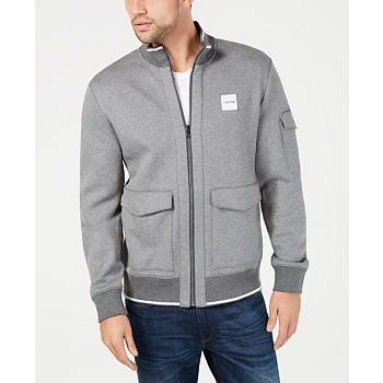 Calvin Klein Men's Tipped Knit Bomber Jacket