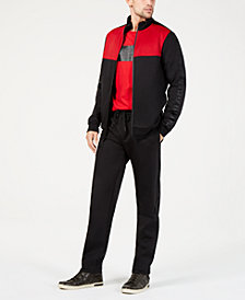 Kenneth Cole New York Men's Colorblocked Jacket, Logo Graphic T-Shirt & Stretch Drawstring Pants