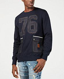 Heritage America Mens Denim Graphic Sweatshirt