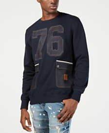 Heritage America Mens Denim Graphic Sweatshirt