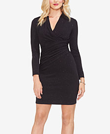 Vince Camuto Ruched Shimmer Sheath Dress