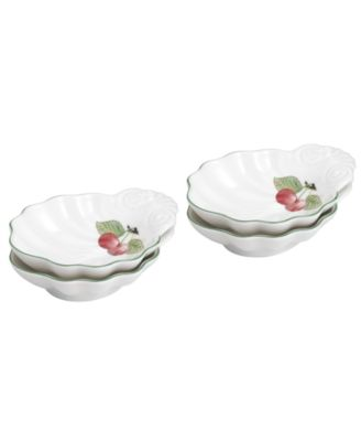 Dinnerware, Set of 4 French Garden Shell Relish Dishes