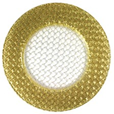Jay Import Braid Gold Glitter Charger Plate