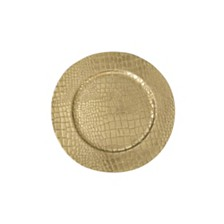 Jay Import Croc Gold  Set/4 Charger Plate