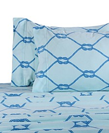 Blanket & Home Co.® Rope Printed Microfleece King Sheet Set